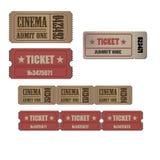 Собрание билетов grunge высокой детали винтажных и талоны vector иллюстрации Стоковые Фотографии RF