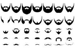 Собрание бород большое Стоковые Изображения RF
