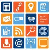 Собрание вектора: значки интернета Стоковые Изображения