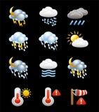 Собрание вектора значков и символов погоды Стоковая Фотография RF