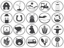 Собрание вектора значков сельского хозяйства Стоковые Изображения RF