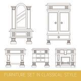 Собрание вектора классической мебели Стоковая Фотография