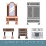 Собрание вектора классической мебели Стоковые Фото