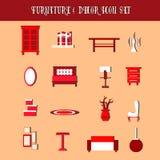 Собрание вектора мебели и оформления Стоковые Фото