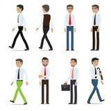 Собрание вектора персонажей из мультфильма бизнесменов иллюстрация штока