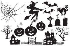 Собрание вектора символов хеллоуина стоковое изображение