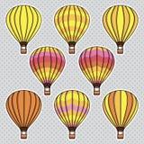 Собрание вектора установленное с воздушными шарами Стоковые Фото