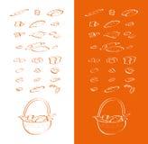 Собрание вектора чертежа печи Стоковые Изображения RF