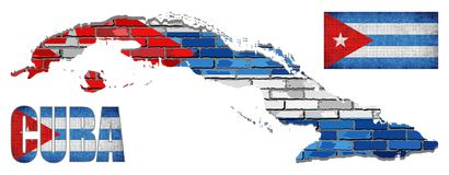 Собрание вектора элементов флага Кубы Стоковая Фотография