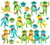 Собрание векторов обезьяны носка рода нейтральных Стоковая Фотография