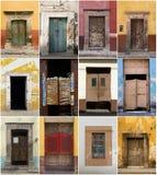 Собрание дверей стоковые фотографии rf