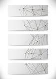 Собрание визитных карточек молекулярной структуры Стоковые Фото