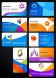 Собрание визитных карточек иллюстрация штока