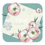 Собрание винтажных элементов флористического дизайна Стоковое фото RF
