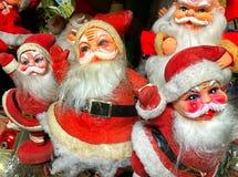 Собрание винтажных Santas Стоковые Фотографии RF