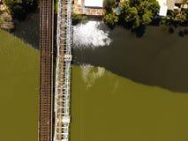 Собрание воздушного фотографирования ландшафта & городское собрание изображений от трутня стоковое фото