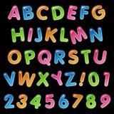 Собрание воздушного шара дня рождения алфавита Стоковые Фото