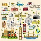 Собрание впечатления Великобритании иллюстрация штока