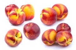 Собрание всех плодоовощей персика изолированных на белой предпосылке Стоковая Фотография