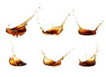 Собрание выплеска кофе стоковые фото