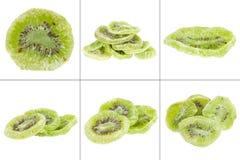 Собрание высушенного плодоовощ кивиа изолированного на белой предпосылке Стоковые Фото
