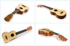 Собрание гитары гавайской гитары изолированное на белизне Стоковые Фото