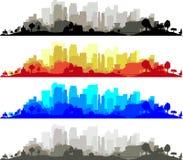 Собрание городского пейзажа бесплатная иллюстрация