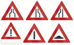 Собрание голландских предупреждающих дорожных знаков бесплатная иллюстрация