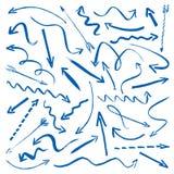 Собрание голубых стрелок Стоковые Изображения RF