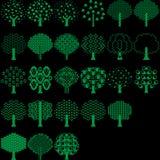 Собрание дерева вектора для всего дизайнера иллюстрация штока