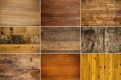 Собрание деревянной текстуры Стоковое Изображение