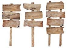 Собрание деревянных знака и signboard Стоковое Изображение