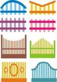 Собрание домашнего дизайна загородки также вектор иллюстрации притяжки corel Стоковое фото RF