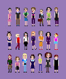 Собрание девушек пиксела Стоковая Фотография