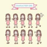 Собрание девушки характера Стоковая Фотография RF