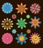 Собрание декоративных цветков Стоковая Фотография