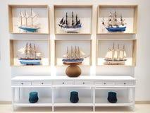 Собрание деревянного корабля украшения Стоковое фото RF