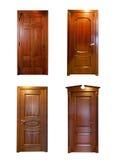 Собрание деревянных дверей Стоковые Изображения RF