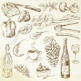 Собрание еды - чертеж иллюстрация вектора