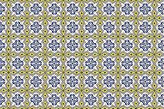 Собрание желтых и голубых плиток картин Стоковое Изображение RF