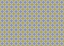 Собрание желтых и голубых плиток картин Стоковые Фотографии RF
