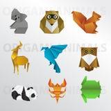 Собрание животного Origami Стоковые Фото