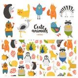 Собрание животных шаржа иллюстрация штока