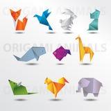 Собрание животных Origami Стоковые Фото