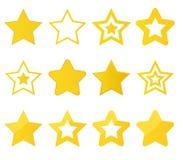 Собрание звезд вектора Стоковая Фотография RF