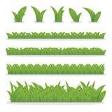 Собрание зеленой травы для украшения в ваших работах Стоковое Изображение RF