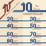 Собрание знака годовщины Стоковое Изображение