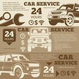 Собрание знамен внедорожного обслуживания автомобиля винтажное иллюстрация вектора