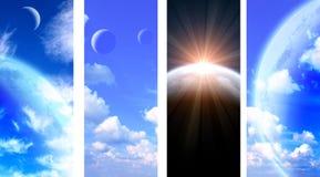 Собрание знамен космоса Стоковая Фотография RF