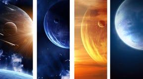 Собрание знамен космоса Стоковые Изображения